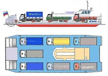 "Design MP3005 ""Chelnok-4"" car and passenger catamaran ferry"