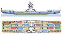 "Design MP3007 ""Chelnok-6"" catamaran car and passenger ferry"