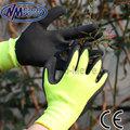 nmsafety jardín de látex guantes de trabajo guantes de goma de excelente resistencia a la rotura