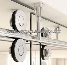 Double roller top mounted shower partition door&interior glass sliding door