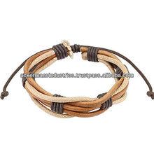 custom Handmade genuine leather wristband bracelet