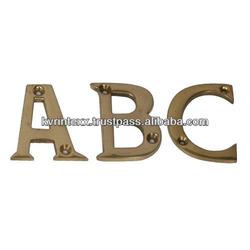 2014 latest decoration brass alphabet letter
