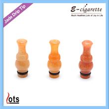 hot selling 510/901 e cig drip tips original colorful natural jade drip tips