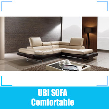 Modern corner leather lounges suite MY079