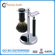 Metal double edge razor set safety razor kit with badger brush