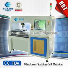 Wuhan East Lake high-tech District fiber laser solar cell scribing machine/cutting,scribing of solar PV industry 10W/20W