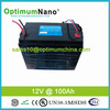 solar panel lithium battery pack 12v 100ah with deep cycle