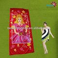 personalizado impresso princesa magic toalhas de praia