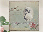 2014 New Shabby Chic Pink Rose Home and Butterfly Design Wood Photo Frame