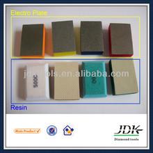 JDK Pro Diamond Electroplated Hand Polishing Pads Hand Abrasive Pad Resin Hand Held Polisher For Granite Marble Glass Concrete