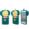 stock lot forest family animal 3d silicone phone case for iphone 5