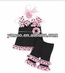 Sıcak satış! Güzel çocuk giyim eşyası setleri kıyafet butik Toddler tatil fırfır kıyafeti bebek eşleşen fırfır kıyafet
