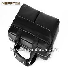 NEPPT Latest Fashion Business Bag Men Tote Bag,Genuine Leather Laptop Bag for Man