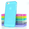 Mix colors good Quality TPU Frosted back Clear side cheap price case for iphone 5s
