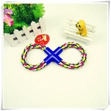 Free shipping! 8 shaped rope cotton rope, pet dog toys, dog toys brushing