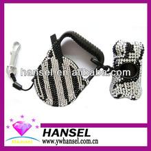 Zebra Bling Pet Garbage Bag Set&Retractable leash
