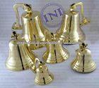 Brass Ship Bells Group, Group Of Nautical Brass Marine Ship Bells, Brass Beautiful Gift Set