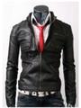 tigre noir simili cuir veste hommes vestes de motards
