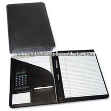 ADACF - 0194 fashion a4 leather folder organizer / document carrying file folder / leather file folder holder in fashion color