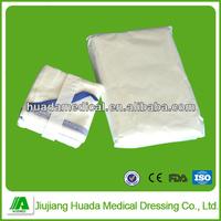 medical 100% cotton sterile 5pcs per pouch gauze abdominal pads
