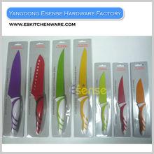 Royalty Line Color Knife Set 7PCS Colorful Non-Stick Coating Knife Set Non-Stick Knife