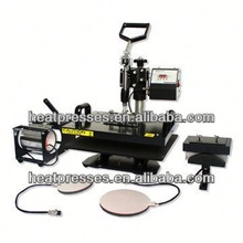 Swing Away Design CE Cetification t-shirts printing heat press machine