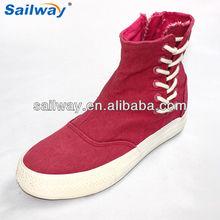 side lace up platform canvas shoes 2014 wenzhou