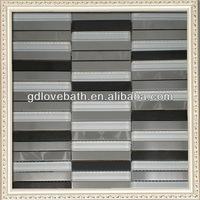lowes kitchen wall backsplash metal mixed glass mosaic tiles