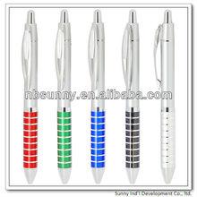 silver plastic pen