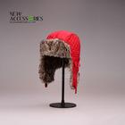 winter warm red ski hat