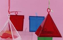 Pramid shape Gift baox balloon weight for latex balloon/ foil balloon
