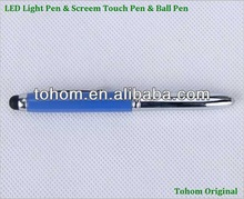 high quality with cheap price metal&plastic flashing bulb pen light up pen