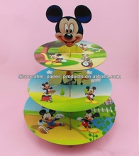 Cupcake Stands / Carriers Cupcake Holder Tower Display Stand Cardboard 3-Tier Mickey Mouse Ears Cupcake Party Treat Stand Holds