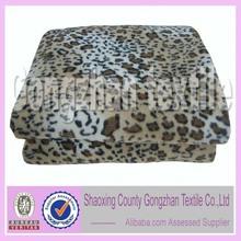 client customized design soft leopard fleece double sided blanket