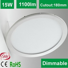 2014 SAA approved SMD Round led display panel price 15W Dimmable