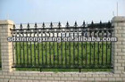 Wrought iron gates and fence design made in foundry