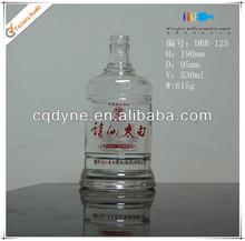 yuvarlak tasarlanmış cystal açık cam ucuz şarap şişeleri çin üreticisi