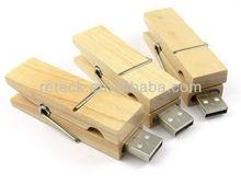 Pen drive wooden clip model USB 2.0 Memory Stick Flash pen Drive enough 4G 8G 16G 32G innovation pen drive