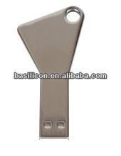 metal key usb flash drive with free logo