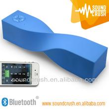Made in China Original Design Twist Shape with Passive Subwoofer Bluetooth Speaker 2.1ch HiFi sound