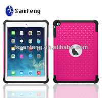 Most popular crystal matte rugged hard case for ipad air heavy duty case / for ipad 5 armor case for ipad air tablet