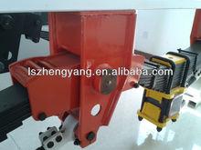 Semi trailer chain drive rear axle suspension
