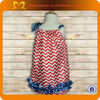 2014New Arrival Red Chevron Kid Clothes Girls Boutique Pillow Case Dress Baby Girls Party Wear Dress