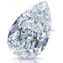 white European brilliant teardrop shape Cubic Zirconia cz stone synthetic rough Gemstone Beads gems for jewelry making
