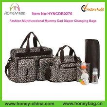 large capacity fancy multifunctional mommy dad diaper bag set