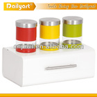 excellent quality metal colorful kitchen canister set