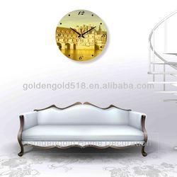 Fashion design glass decoration wall world clock