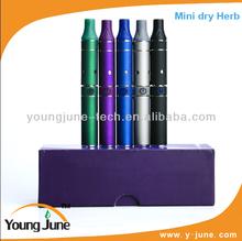2014 Youngjune newest hot selling Colorful e cigarette dry herb wax vaporizer pen max vapor electronic cigarette
