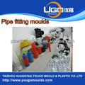 molde de plástico proveedor para el tamaño estándar de plástico ppr de 90 grados pvc instalación de tuberías codo de moldeo