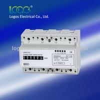 Three phase electronic kwClass 1 energy meter Three phase kilowatt hour meterac analogue meter watt meter Din-rail type mounted